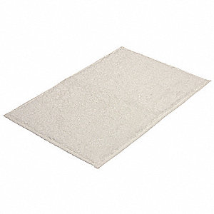 "24"" x 17"" Riviera Cotton Bath Rug, White"