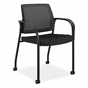 "Desk Chair,Fabric,Black,18-18"" Seat Ht"