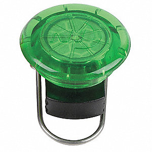 LED General Purpose Hands Free Light, ABS Plastic, Green