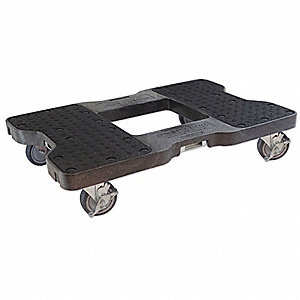 "32""L x 20-1/2""W x 7""H Black General Purpose Dolly, 1500 lb. Load Capacity"