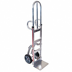 Narrow Aisle Hand Truck, Dual Loop, 500 lb. Overall Height 62""