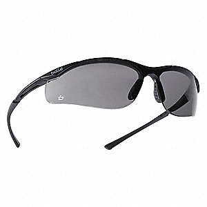 Contour Anti-Fog, Scratch-Resistant Safety Glasses, Smoke Lens Color