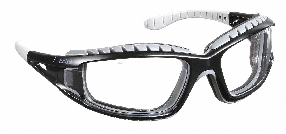BOLLE SAFETY 40085 Tracker Safety Glasses With Clear Anti-Fog,