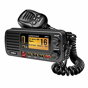 Marine Radio, 156 to 163 MHz Frequency, VHF, 25 Output Watts, 167 Number of Channels