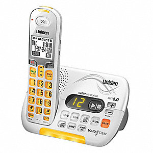 Cordless Telephone,Amplified,White