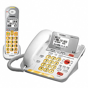Cordless/Corded Telephone,Amplified