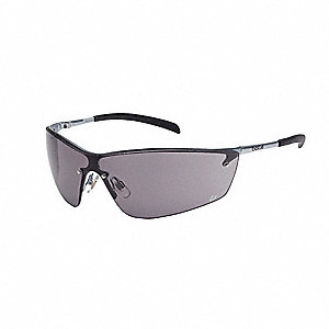 Silium Anti-Fog, Scratch-Resistant Safety Glasses, Smoke Lens Color