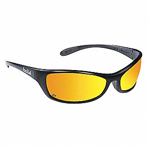 Spider Scratch-Resistant Safety Glasses, Red Mirror Lens Color