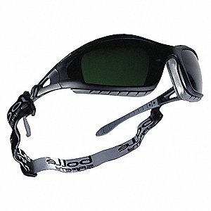 Tracker Scratch-Resistant Welding Safety Glasses, Shade 5.0 Lens Color