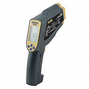 Backlit LCD Infrared Thermometer, Laser Sighting: Single Dot, -76° to 2732° Temp. Range (F)
