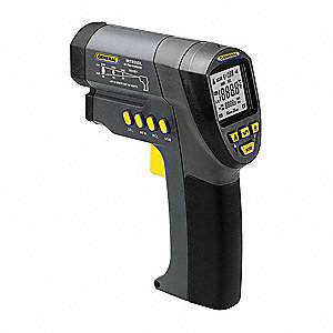 Backlit LCD Infrared Thermometer, Laser Sighting: Single Dot, -25° to 3002° Temp. Range (F)