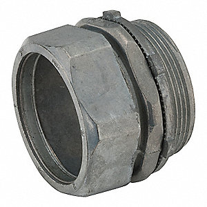 "2-1/2"" EMT Compression Connector, 2-43/64"" Overall Length"