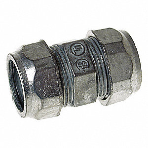 "2-1/2"" EMT Compression Coupling, 3-9/16"" Overall Length"