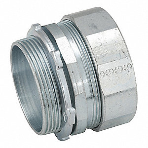 "3-1/2"" IMC, Rigid Compression Connector, 4-5/16"" Overall Length"