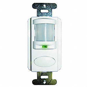 Occupancy Sensor, Sensor Type: Passive Infrared, Installation Type: Wall, 1000 sq. ft. Coverage
