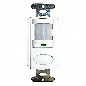 Wall Switch Box Hard Wired Vacancy Sensor, 1000 sq. ft. Passive Infrared, Ivory