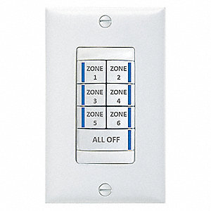 Digital Wall Switch,White,7 Button