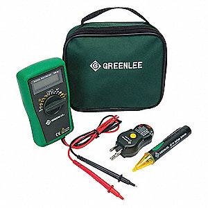 Electrical Test Kit, Test Instrument Included: Digital Multimeter, Receptacle Tester, Voltage Detect
