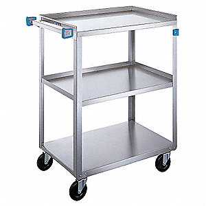 Utility Cart,300 Lb.,Stainless Steel