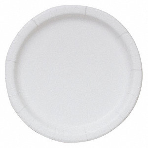 "9"" Round Disposable Plate, White&#x3b; PK250"