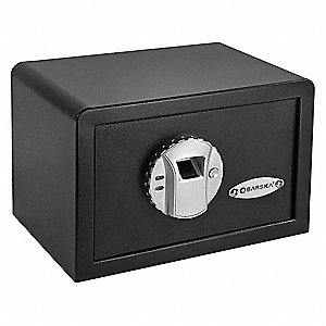 "12"" x 7-3/4"" x 8"" Portable Safe, Black; Holds Documents, Records, Electronics, Small Firearms, Jewel"