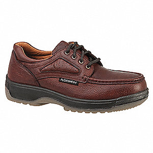 Men's Oxford Shoes, Composite Toe Type, Leather Upper Material, Dark Brown, Size 10-1/2D