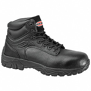 "6""H Men's Work Boots, Composite Toe Type, Leather Upper Material, Black, Size 5-1/2M"