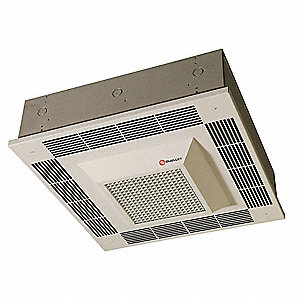 Electric Convection Ceiling Heater, Recessed, Voltage 277, Watts 5000, BtuH 17,060