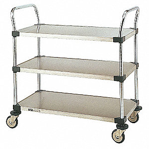 Utility Cart,SS,38x21x38,3 Shelf