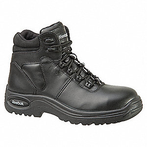 "6""H Women's Athletic Work Boots, Composite Toe Type, Leather Upper Material, Black, Size 6M"