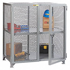 Ventilated Welded Storage Locker,Gray