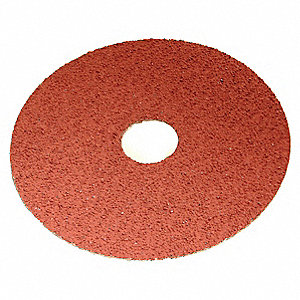 Resin Fiber Disc,No Hole,4-1/2 in.,PK25