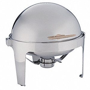 Round Chafer,Stainless,7 qt.
