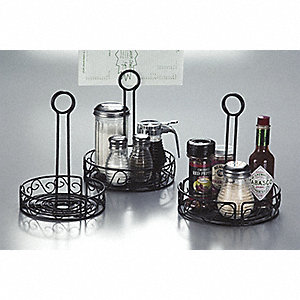 Condiment Rack, Black, 7 3/4 x 9 In.