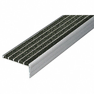 Stair Nosing,Black,36in W,Extruded Alum