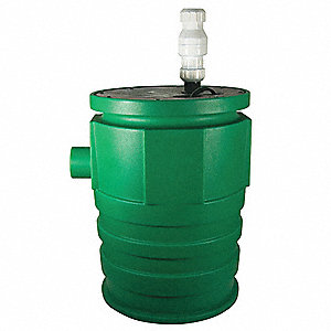 4/10 HP Submersible Sewage Pump Assembly, 115 Voltage, Basin Capacity: 41 gal.