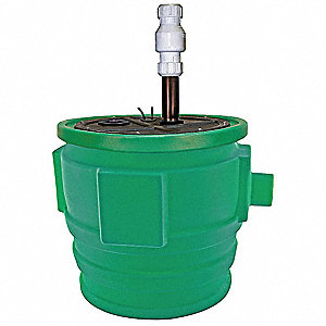 4/10 HP Submersible Sewage Pump Assembly, 115 Voltage, Basin Capacity: 40 gal.