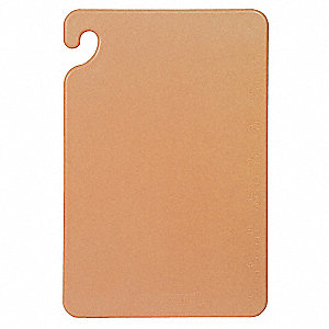 "12"" x 18"" Co-Polymer Cutting Board, Brown"