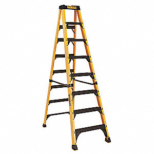 8 ft. 500 lb. Load Capacity Fiberglass Stepladder