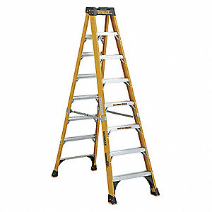Stepladder,Fiberglass,8 ft. H,500 lb Cap