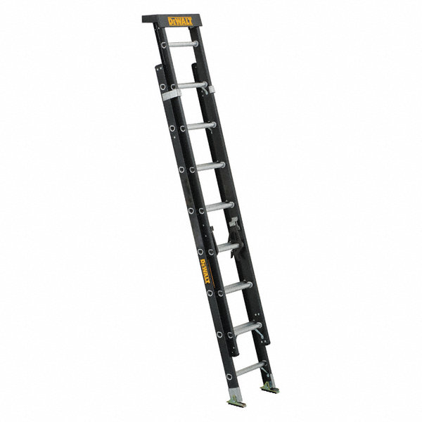 dewalt 16 ft  fiberglass extension ladder  300 lb  load