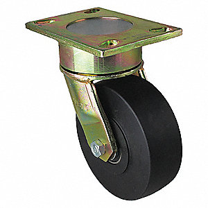 "6"" Medium-Duty Swivel Plate Caster, 2000 lb. Load Rating"