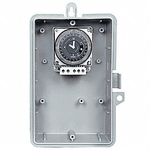 Electromechanical Timer, 120VAC Voltage, 21 Amps, Max. Time Setting: 23 hr. 45 min.