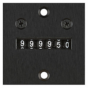 Electromechanical Counter, Panel Mounting, Number of Digits: 6, Max. Counts per Second: 10