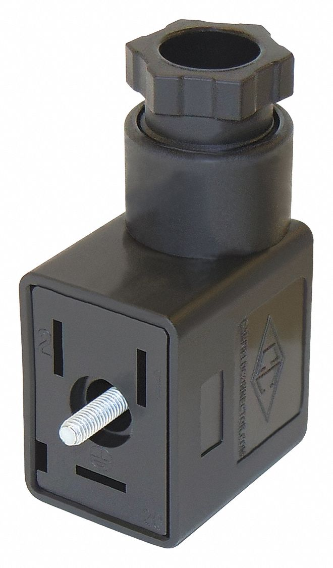Solenoid Valve Connector,  Nylon,  Any Compatible Valve For Use With