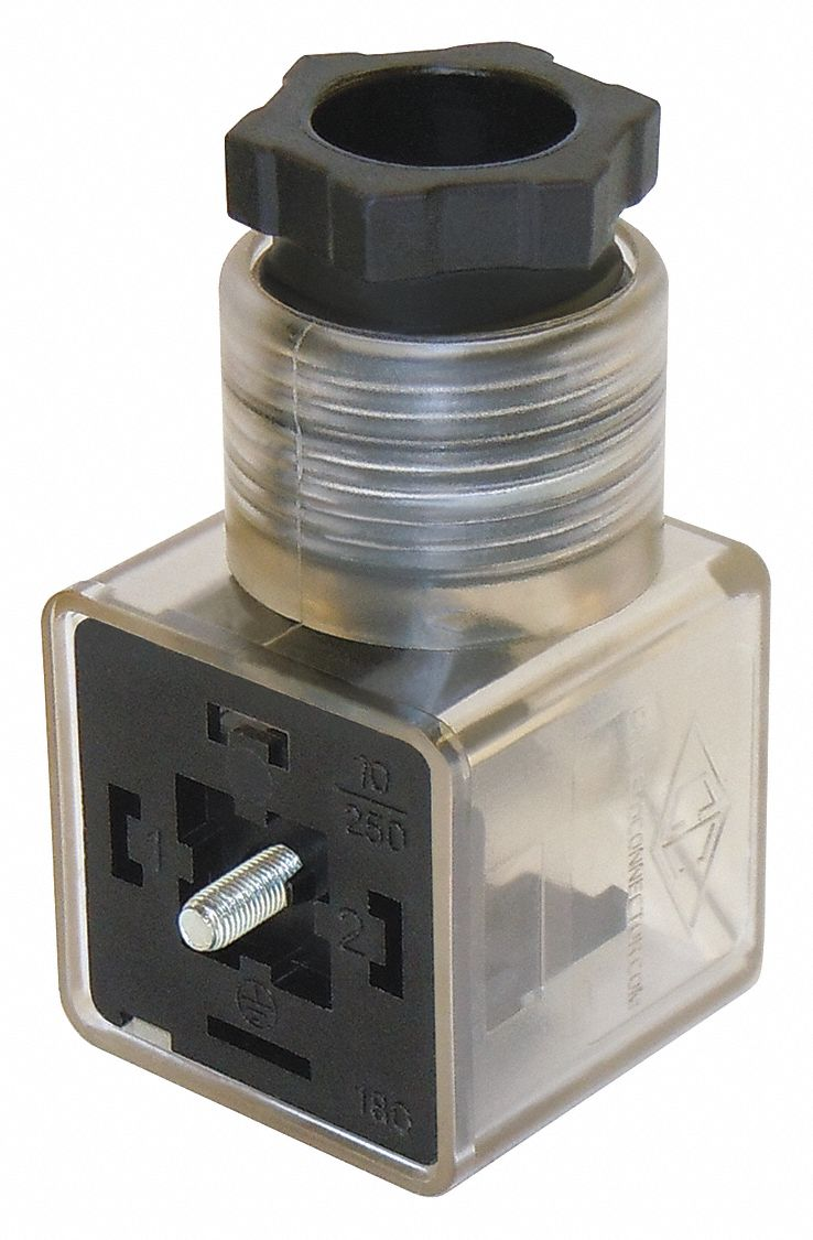 Solenoid Valve Connector,  TPU/Nylon,  Any Compatible Valve For Use With