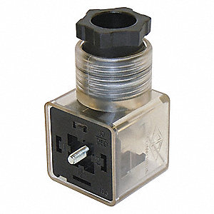 Solenoid Valve Connector, Nylon, For Use With Any Compatible Valve