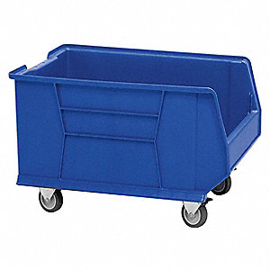 Mobile Bin,23-7/8in.L,18-1/4in.W,Blue