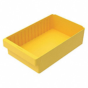 "Drawer Bin, Yellow, 4-5/8""H x 17-5/8""L x 11-1/8""W, 1EA"