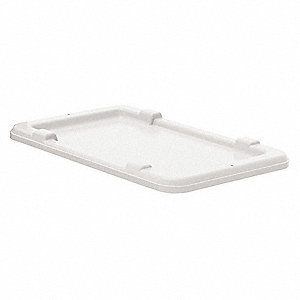 Cross-Stacking Bin Lid,1-9/16inH,Natural